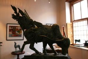 wax sculpture, afrikaner bull sculpture, the studio gallery