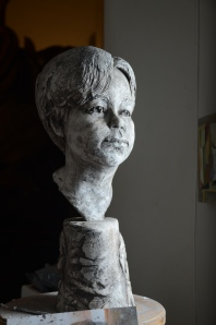Portrait sculpture, plaster sculpture, stephen rautenbach