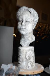 Plaster sculpture,portrait, stephen rautenbach