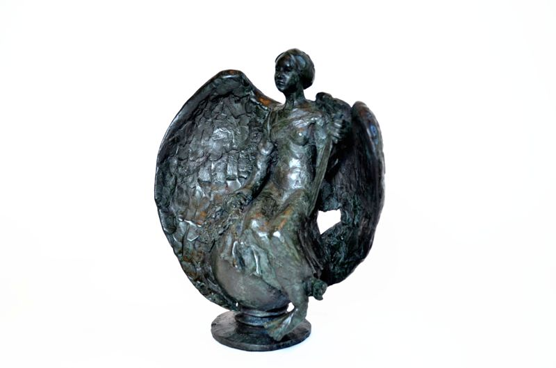 bronze, angel sculpture