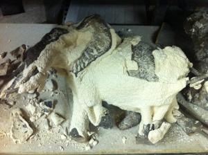 Ceramic shell mould, Elephent bronze