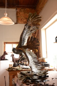Fish Eagle,sculpture,wax