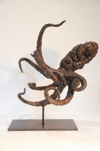 octopus,sculpture,Bronze octopus