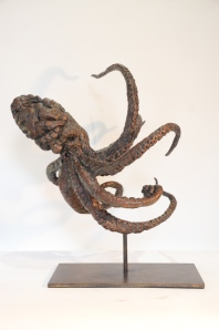 Octopus sculpture, octopus,statue, bronze
