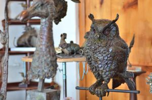 Eagle owl sculpture
