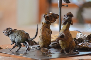 mice sculpture, sculpture