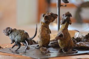 mice sculpture, sculpture