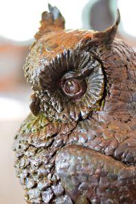 Owl sculpture,spotted eagle owl sculpture,owl statue