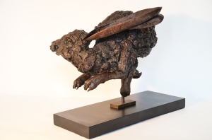Sprinting Hare sculpture, Bronze Hare, Hare statue