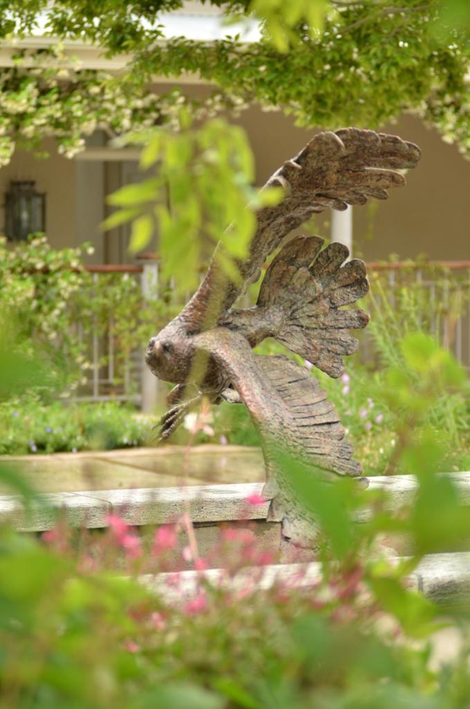 Fish Eagle,bronze,sculpture,statue