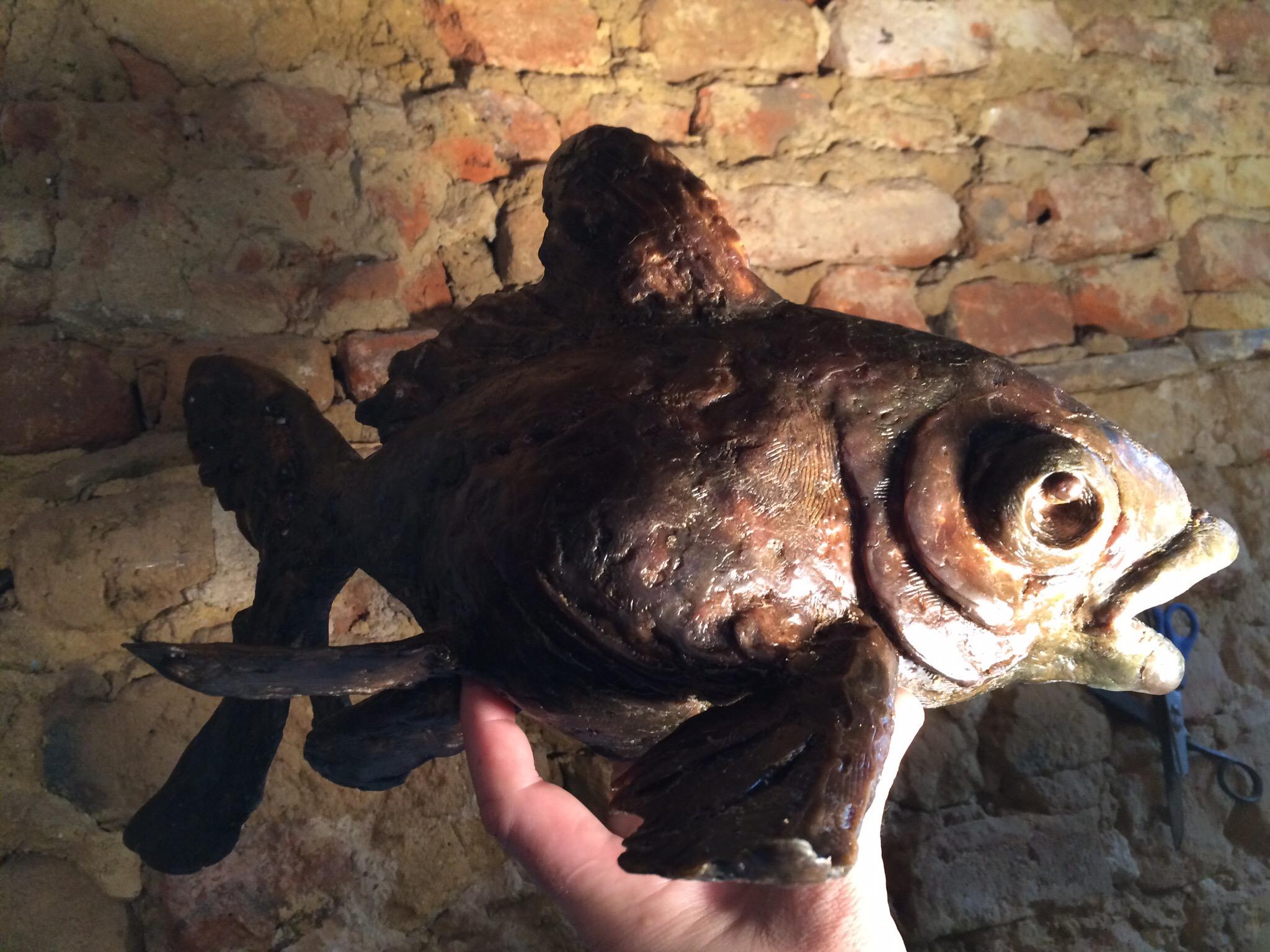 Goldfish statue