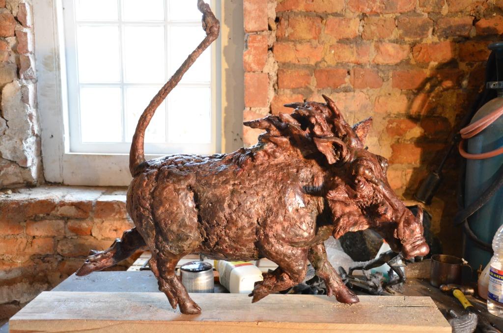 #Warthog, sculpture, wax sculpture