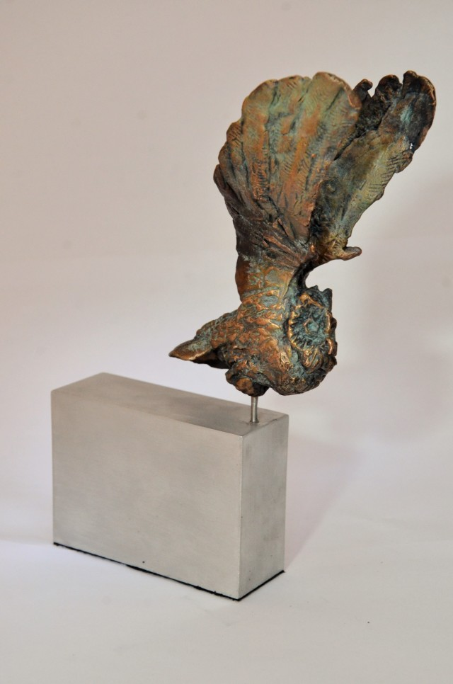 Owl,sculpture,bronze