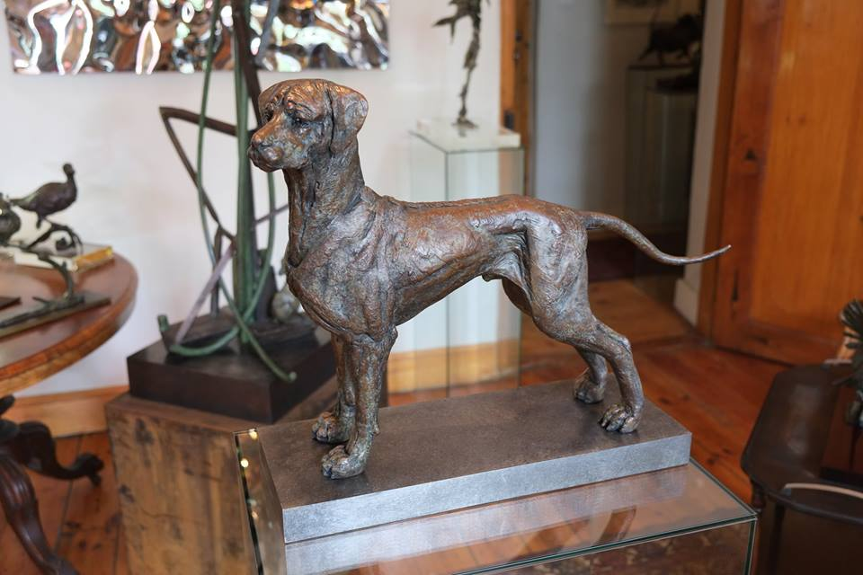 Ridgeback, sculpture, portrait, bronze
