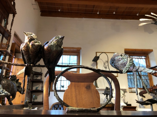Swallows, bronze,sculpture,
